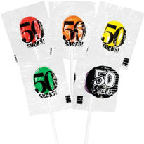 50 Sucks Birthday Lollipops 5ct