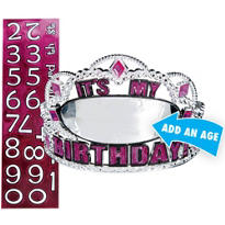 Hot Pink Birthday Personalized Tiara