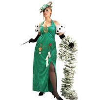 Adult Long Dress Lady Luck Costume Plus Size