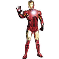 Adult Super Mark VI Iron Man Costume Deluxe - Iron Man