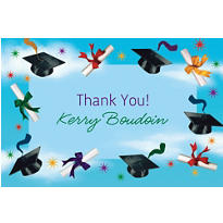 Custom Grad Spirit Thank You Notes