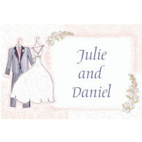 Sweet Romance Custom Wedding Thank You Note