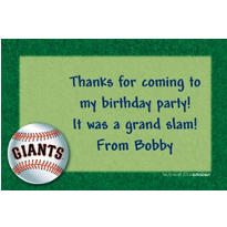 San Francisco Giants Custom Thank You Note