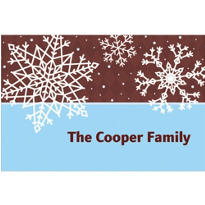 Simple Snowflake Brown Custom Thank You Note