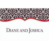 Fancy Finish Red Custom Thank You Note