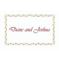 Gold Leaf Scroll Custom Thank You Note