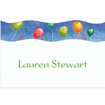 Surprise with Balloons Custom Thank You Note