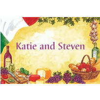 Italian Dinner Party Custom Thank You Note