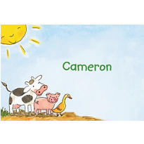 Barnyard Animals Custom Thank You Note