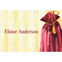 Burgundy Graduation Gown Custom Thank You Notes