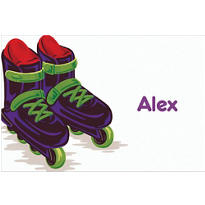 Roller Blades Custom Thank You Note