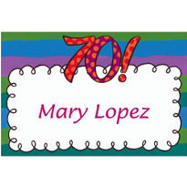 Big 70 Border Custom Thank You Note