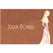 Classy Bride on Brown Custom Bridal Shower Thank You Note