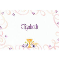 Pretty Chalice & Flowers Custom Thank You Note