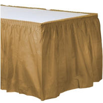 Gold Plastic Table Skirt