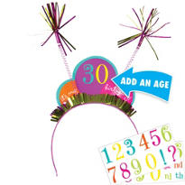 Happy Birthday Dots & Stripes Personalized Head Bopper