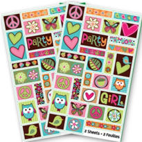 Hippie Chick Stickers 2 Sheets