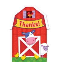 Barnyard Fun Thank You Notes 8ct