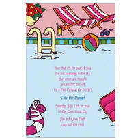Swimming Pool Custom Invitation