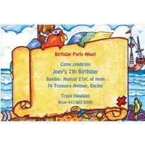 Pirate Map Custom Invitation