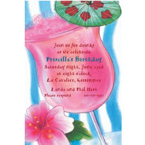 Tropical Drink Custom Invitation