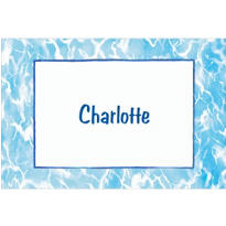 Swimming Pool Border Custom Thank You Note
