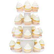 Four-Tier White Cupcake Stand
