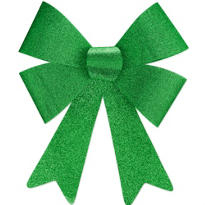 Glitter St. Patricks Day Bow 17in