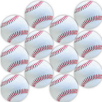 Glitter Baseball Stickers 12ct