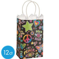 Black Neon Mini Gift Bags 12ct