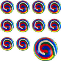 Stripe Bounce Balls 48ct