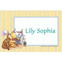 Pooh and Friends Birthday Party Custom Thank You Note