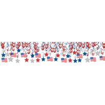 Patriotic Swirl Decorations 30ct