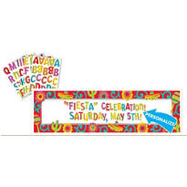 Personalized Fiesta Sign Banner 5ft