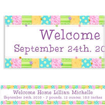 Cute As A Button Patched Custom Baby Shower Banner 6ft