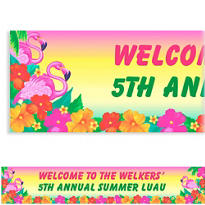 Flamingo Beach Custom Banner 6ft