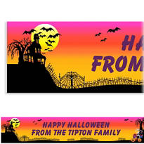 Haunted Hill Custom Halloween Banner 6ft
