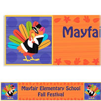 Fun Turkey Custom Banner