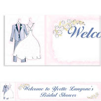 Sweet Romance Custom Wedding Banner