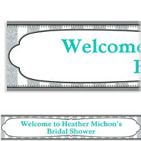 Bride and Groom Custom Bridal Shower Banner