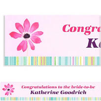 Watercolor Blooms Custom Banner 6ft