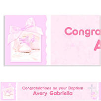 Tiny Blessing Pink Custom Banner 6ft
