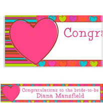 Hip Hearts Custom Valentines Day Banner