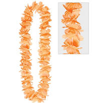 Orange Hawaiian Flower Lei