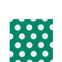 Emerald Big Dots Beverage Napkins 20ct
