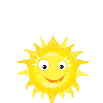 Foil Smiling Sun Balloon 35in