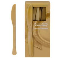 Gold Premium Plastic Knives 100ct