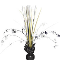 Silver, Black & Gold Foil Spray Centerpiece 12in