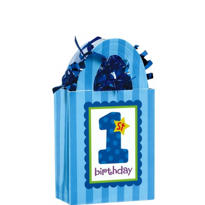 1st Birthday Blue Balloon Weight 5.7oz