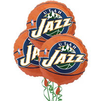 Utah Jazz Balloons 18in 3ct